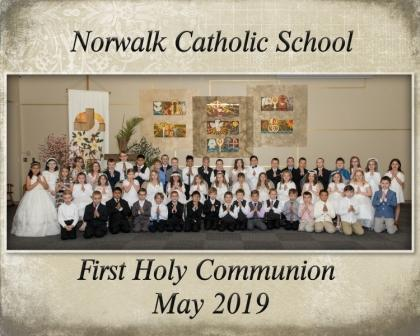 Congratulations to our Norwalk Catholic School Second Graders for making their First Holy Communion.