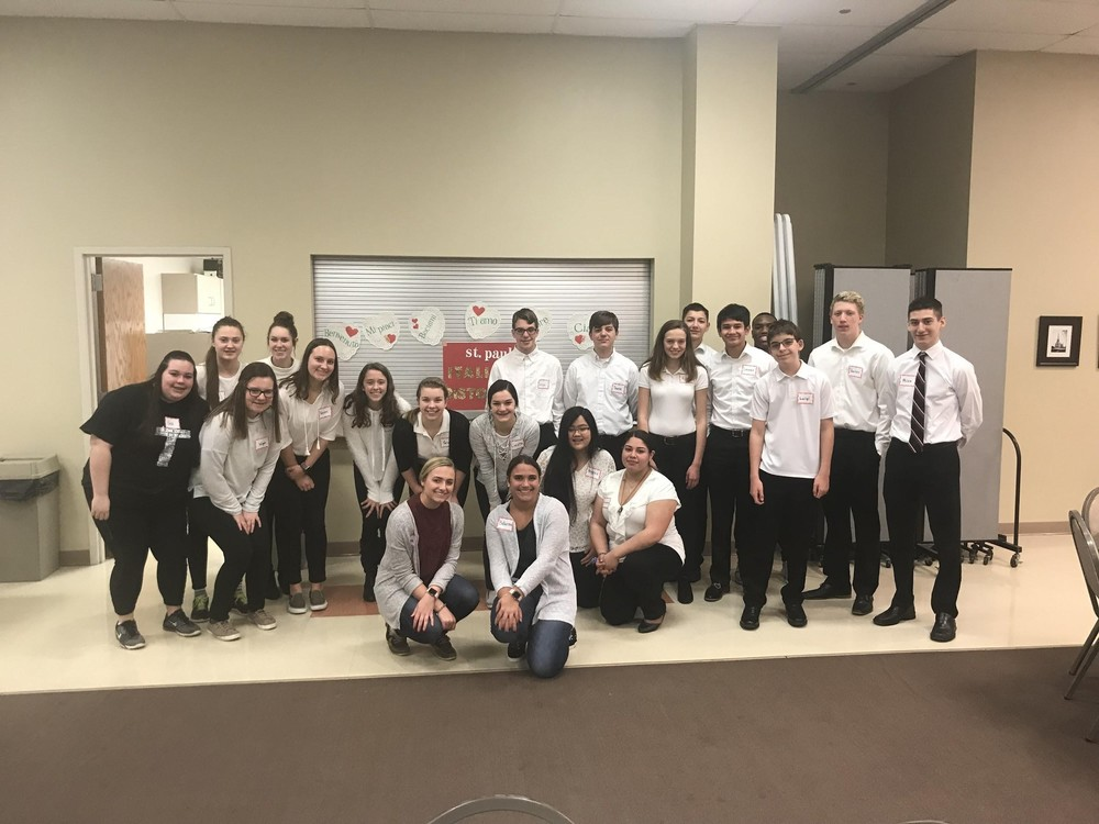 Senior Project helps Confirmation Class