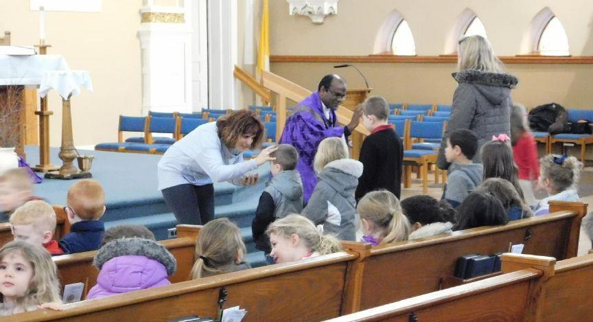 Preschoolers, adults experience Ash Wednesday services