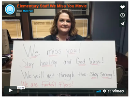 Message from our Elementary Staff