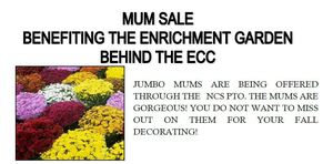 MUM SALE BENEFITING THE ENRICHMENT GARDEN BEHIND THE ECC