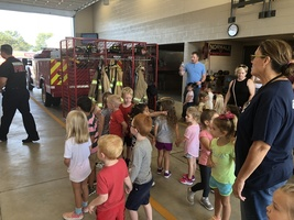 Preschool makes annual trip to the Firestation.