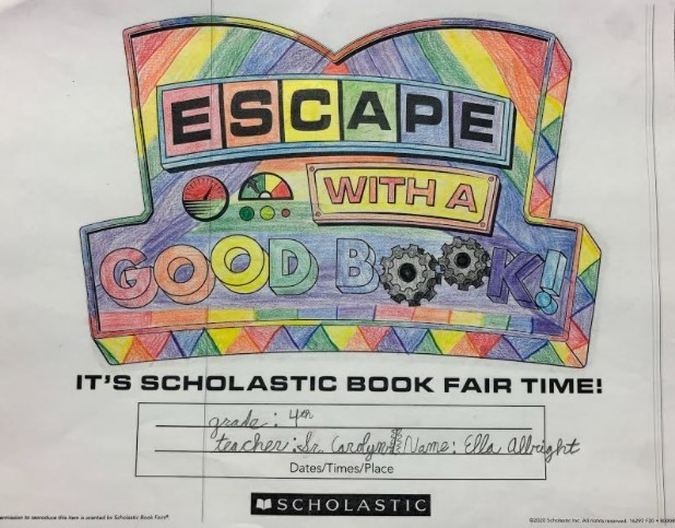 Book Fair Coloring Contest Winner
