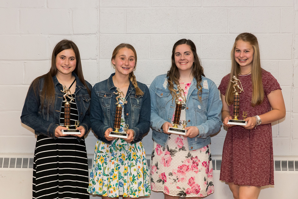 Softball award winners