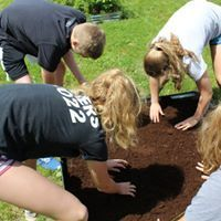 Planting the community garden.