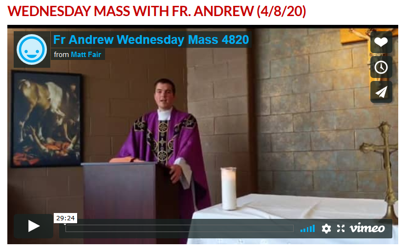 Wedneday Mass
